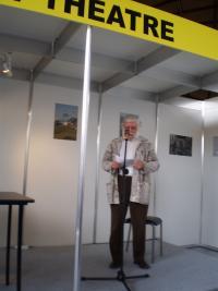 Ivan Havel čte Laudatio pro Markétu Goetz-Stankiewicz, udílení Ceny Jiřího Theinera, Praha Knižní veletrh, 2016
