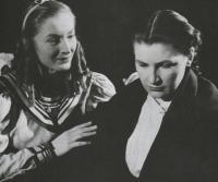 V roli Hanky, Morálka paní Dulské, Divadlo státního filmu, 1950