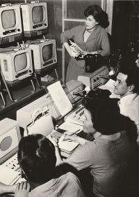 Příprava na Televizní noviny, 1960