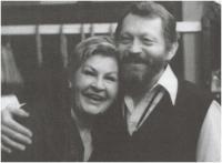 S partnerem Jiřím Zahajským, 1989