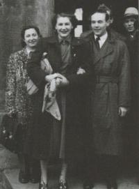 Svatba s Josefem Moučkou, 1949