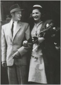 Svatba s Milošem Willigem, 1947
