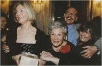 S dětmi, zleva Kateřina, Ondřej a Bára, 1998