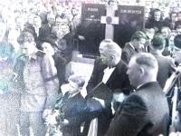 Pohřeb Bohuše Bárty, otce pamětníka, rok 1953, 1.snímek