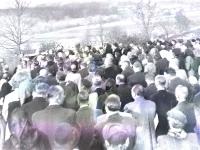 Pohřeb Bohuše Bárty, otce pamětníka, rok 1953, 2.snímek