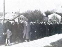 Pohřeb Bohuše Bárty, otce pamětníka, rok 1953, 3.snímek