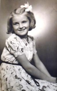 21 - Jana Straková as a child