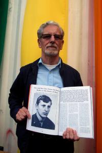 Prezentace publikace obsahující rozhovor s Františkem Bloudkem (Prague Pride, 2014)