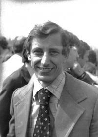 František Bloudek, promoce na VŠE, 1980