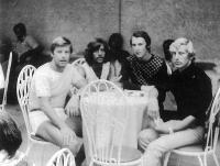 František Bloudek, vpravo, dovolená v Bulharsku s východoněmeckými přáteli, 70.léta