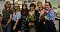 Lina Čmolová se žákyněmi ze ZŠ Emy Destinnové - březen 2018