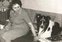 Mother Klementýna Šmirousová in 1976