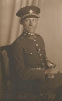 Father Prokop Šmirous in the army during the First Republic era