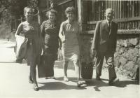 Parents Prokop and Klementýna Šmirous with Klementýna and Ivana