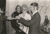 Wedding of Prokop and Milada Šmirous in 1973 in Šumperk
