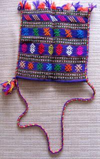 Tagari, řecká taška, dříve na pole, osla, posléze jako módní doplněk