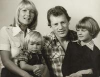 Jiří Holík with wife and childern (around 1978)
