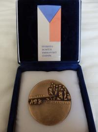 Pamětní medaile pro Petru Erbanovou, 2008