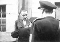 H. Jöckel před popravou (1946, věznice Litoměřice)