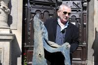 Petr Šída na pietním setkání u liberecké radnice (v místě, kde byl 21. 8. 1968 těžce raněn), 21. 8. 2014