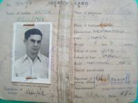 Identity card z Palestiny