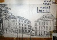 Secondary (on the left) and elementary (right) school in Frýdek which Petr attended after the family had moved from Ostrava to Frýdek