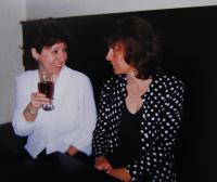 Oslava padesátin pamětnice - se Zinou Freundovou; Praha; 1999