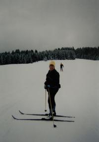 Na dovolené v Dolomitech s kamarádkou Martou; 2002