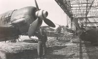Charles Muller on airport in Pardubice, May 1945