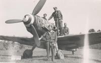 Stanley Wilkin on pardubice Airport, May 1945