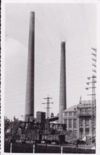 power station, Pardubice May 1945