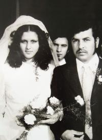 Štefan Tišer jako svědek na svatbě svého bratra