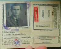 Personal document of Josef Rabenseifner, who was hiding at the Knápek family before crossing the border and left there all his documents