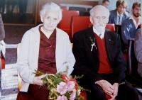 Parents Ludmila and Jaroslav Knapek at their the sixty-fifth wedding anniversary in 1988