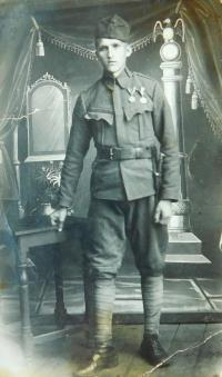 Otec Jaroslava Knápek jako voják Rakousko-uherské armády za 1. světové války