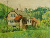 Obraz domu rodiny Knápkovy na Drozdovské Pile