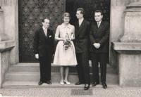 Wedding photo of Hana and Jan Bouzek, Novoměstská Town Hall, Prague 1961