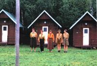 Hana left at the Scouts Camp with English, Červený Hrádek 1996