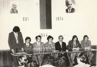 Kiril Berovski, vpravo, Holešov, 1974