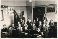 School photos of Richard Vyškovský from Vienna, 1935-6