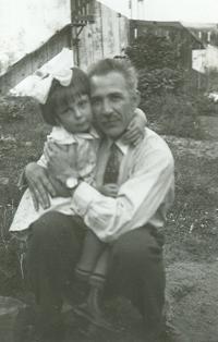 Natálie s otcem