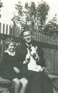 Natalie with her brother and dog Mufik in Uzhorod