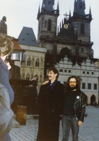 Karel Havelka a Frank Zappa, Praha, leden 1990