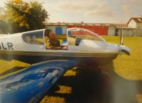 Vladimir Nemajer in the family aircraft