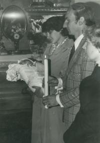 Baptism of a son in 1984