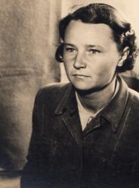 Marie Danešová born Haňková, Valka camp, 1950