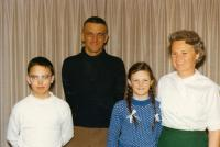 from the left: Petr, Frank, Elena, Marie Danešovi, second half of the 60's