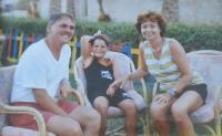 S manželkou Alenou a synem Kamilem, 2008