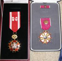 Medals: Order of the White Lion and Legion of Merit