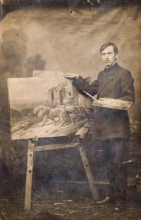 Dědeček pamětníka, legionář Josef Charvát, rok 1916, Novosibirsk